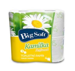 Big Soft toaletní papír s vůni kamilky 3-vrstvý 4ks