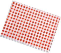 Ubrus PVC - 65 x 50 cm / červené káro