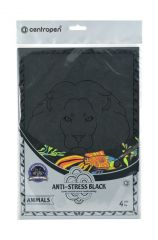 Omalovánky Centropen 9997/4 ANTI-STRESS BLACK -  4 ks / motivy Animals