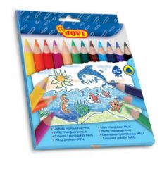 Pastelky JOVI Maxi trojhranné - 12 ks