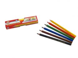 Pastelky Triocolor - 6 barev / lakované / silné