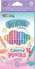Pastelky trojhranné Colorino PASTEL - oboustranné / 24 barev