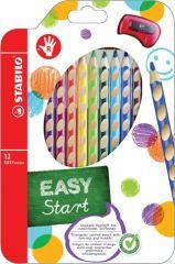 Trojhranné pastelky STABILO® EASYcolors - 12 barev / pro praváky