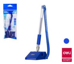 Kuličkové pero na stojánku DELI - modrá