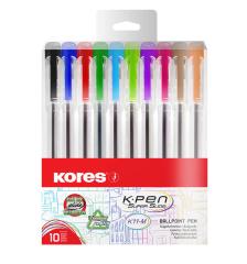 Kuličkové pero Kores K11 - Pen - sada / 10 ks