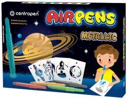 Popisovače Centropen Airpens 1590 Metalic sada 8 ks