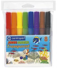 Značkovač Centropen Jumbo Transparent 8580 - 8 barev