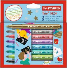 Metalické popisovače STABILO 377/8 Trio® Deco - 8 ks