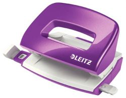 Leitz NeXXt 5060 mini kancelářský děrovač metalická fialová