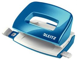 Leitz NeXXt 5060 mini kancelářský děrovač metalická modrá