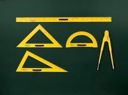Rýsovací potřeby na školní tabuli - pravítko 100 cm