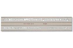 Šablona písmenková - kolmé písmo - 5 mm