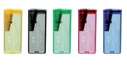 Ořezávátko Faber Castell  Fluor se zásobníkem - fluorescenční barvy