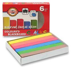 Křídy školní - sada 6 barev