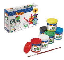 Akrylové barvy JOVIDECOR - 6 x 55 ml + štětec