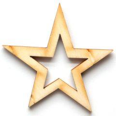 Dřevěné výřezy - 6,5 cm / hvězda
