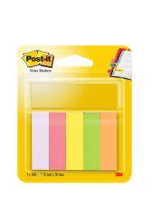 Samolepicí bločky Post-it značkovací - 15 mm x 50 mm / 5 x 100 lístků