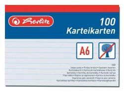 Náhradní karty do kartotéky - karty A6 / 100 ks
