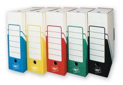 Box archivní A4 - hřbet 10 cm / červená / 213.04
