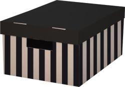 Krabice úložná s víkem - 28 x 37 x 18 cm / 2 ks