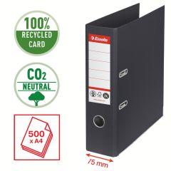 Pořadač pákový Esselete CO2 neutrální - A4 / hřbet 7,5 cm / černá