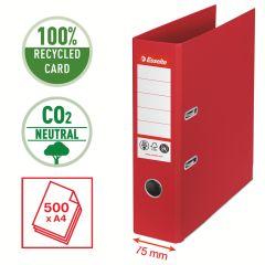 Pořadač pákový Esselete CO2 neutrální - A4 / hřbet 7,5 cm / červená