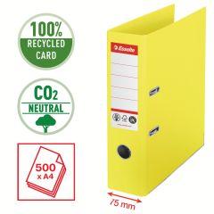 Pořadač pákový Esselete CO2 neutrální - A4 / hřbet 7,5 cm / žlutá