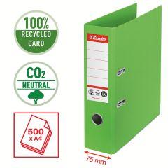 Pořadač pákový Esselete CO2 neutrální - A4 / hřbet 7,5 cm / zelená