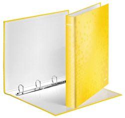 Leitz pořadač A4 kroužkový WOW 4-kroužek 4 cm žlutá