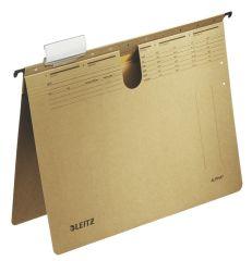 Závěsné desky Leitz Alpha s rychlovazačem - hnědá