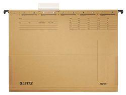 Závěsné desky Leitz Alpha s bočnicemi - hnědá