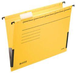 Závěsné desky Leitz Alpha s bočnicemi - žlutá