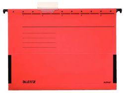 Závěsné desky Leitz Alpha s bočnicemi - červená