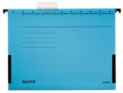 Závěsné desky Leitz Alpha s bočnicemi - modrá