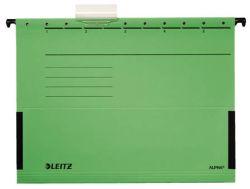 Závěsné desky Leitz Alpha s bočnicemi - zelená