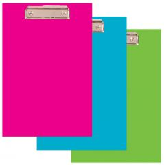 Podložka A4 s klipem PVC Office - modrá pastelová