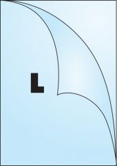 Zakládací obal tvar L - tvar L / A4 matný / 90 my / 100 ks