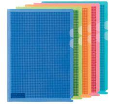 Zakládací obal A4 MASKOVACÍ - tvar L / mix barev / 5 ks