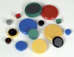 Magnety - průměr 24 mm/ žluté/ 10 ks