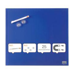 Tabule magnetické skleněné Diamond - 45 x 45 cm / modrá