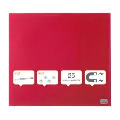 Tabule magnetické skleněné Diamond - 45 x 45 cm / červená