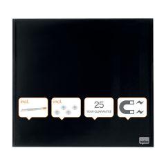 Tabule magnetické skleněné Diamond - 45 x 45 cm / černá