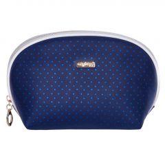 Kosmetická taška Blue triangles / kulatá