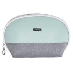 Kosmetická taška Grey mentol  / kulatá