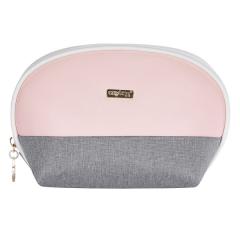 Kosmetická taška Grey salmon / kulatá