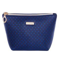 Kosmetická taška Blue triangles / hranatá / malá