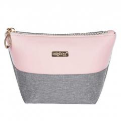 Kosmetická taška Grey salmon / hranatá / malá