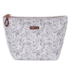 Kosmetická taška White leaves / hranatá / malá