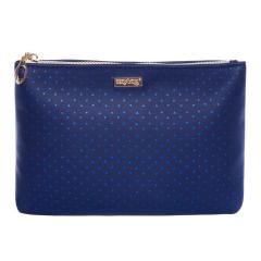 Kosmetická taška Blue triangles / plochá
