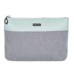 Kosmetická taška Grey mentol / plochá